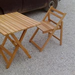 Комплект: раскладные стол и четыре стула