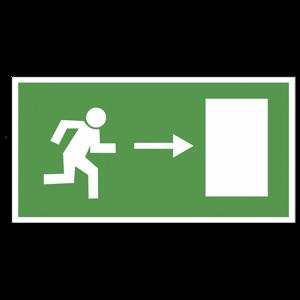 """""""Направление к эвакуационному выходу направо"""""""