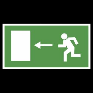 """Наклейка """"Направление к эвакуационному выходу налево"""""""