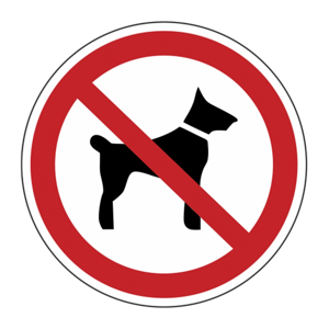 """Наклейка """"С животными запрещено"""""""